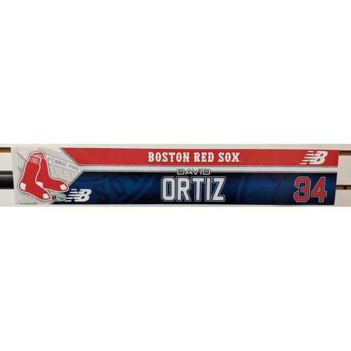 Photo of David Ortiz #34 Team Issued Locker Tag
