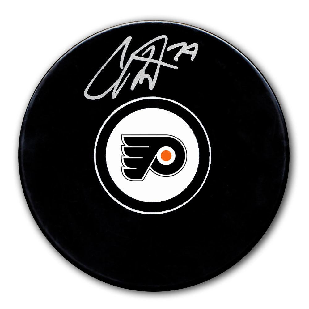 Carter Hart Philadelphia Flyers Autographed Puck