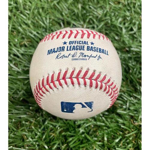 Photo of Game Used Baseball: J.T. Realmuto single off Collin McHugh - Top 1 - May 30, 2021 v PHI