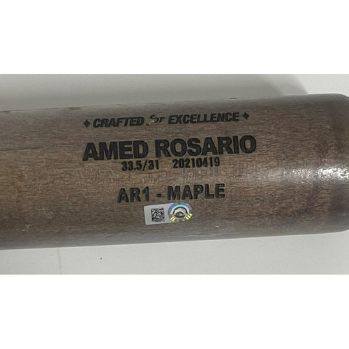Photo of Game-Used Broken Bat - Amed Rosario Grounds Out off Luis Castillo - 5/8/2021 - Reds at Indians
