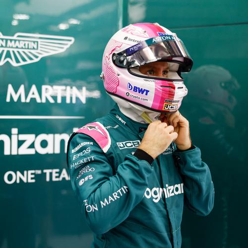 Photo of Sebastian Vettel 2021 Signed Race Used Race Suit - US GP