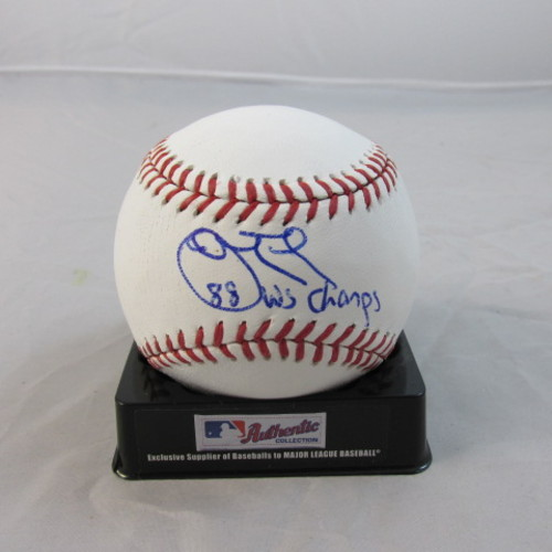 "Photo of John Tudor Autographed ""88 WSC"" Baseball"