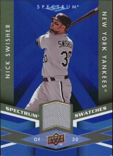 Photo of 2009 Upper Deck Spectrum Spectrum Swatches Blue #SSNS Nick Swisher