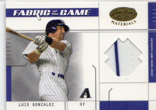 Photo of 2003 Leaf Certified Materials Fabric of the Game #71BA Luis Gonzalez BA/100