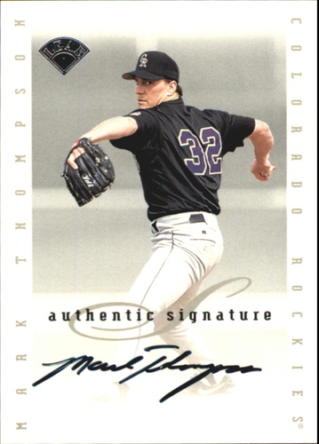 Photo of 1996 Leaf Signature Extended Autographs #201 Mark Thompson