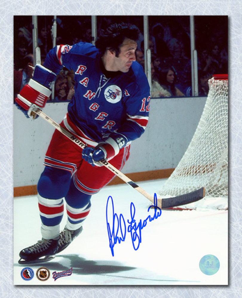 Phil Esposito New York Rangers Autographed 1st Game 8x10 Photo