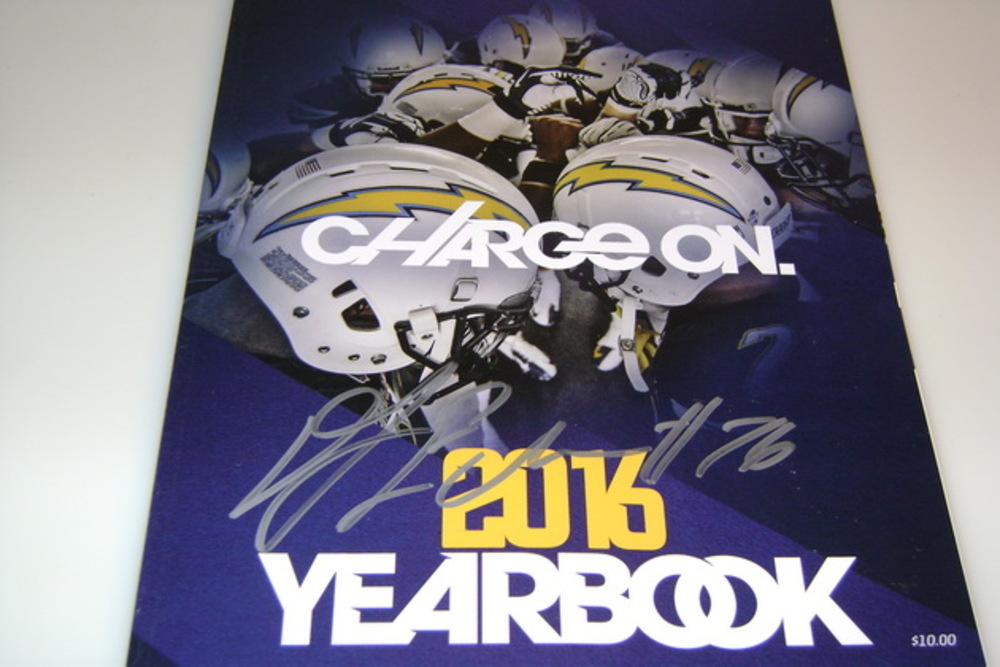 CHARGERS - D.J. FLUKER SIGNED 2016 CHARGERS YEARBOOK