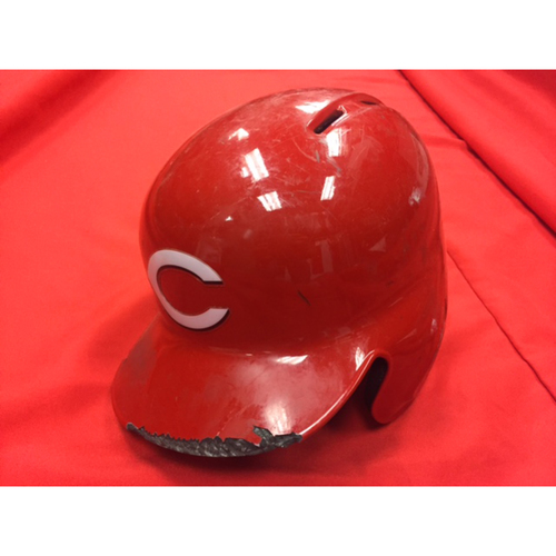 Adam Duvall -- Game-Used Helmet -- Authenticated on 2017 Opening Day & April 28, 2017 -- Worn for First Career Grand Slam Home Run