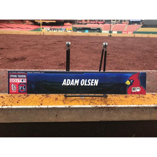 Photo of Cardinals Authentics: Adam Olsen Team-Issued Spring Training Locker Tag