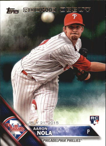 Photo of 2016 Topps Update #US284 Aaron Nola Rookie Card