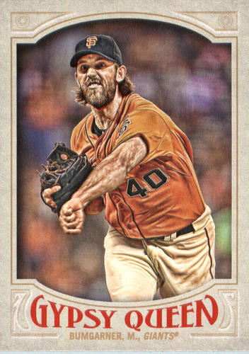 Photo of 2016 Topps Gypsy Queen #59A Madison Bumgarner/Pitching