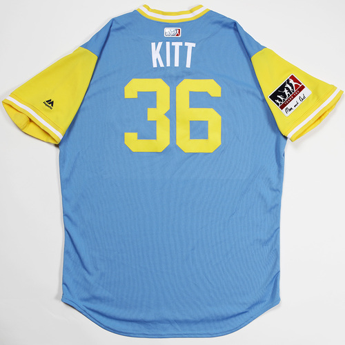 "Photo of Andrew ""Kitt"" Kittridge Tampa Bay Rays Game-Used 2018 Players' Weekend Jersey"