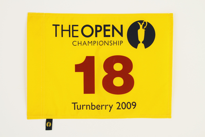 The 138th Open Official Souvenir Pin Flag - Turnberry 2009