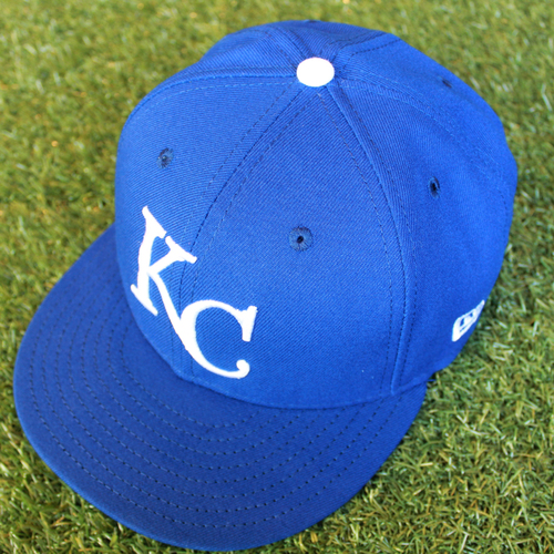 Photo of Game-Used 1969 Throwback Cap: Larry Carter (Size 7 3/4 - NYY @ KC - 5/19/18)