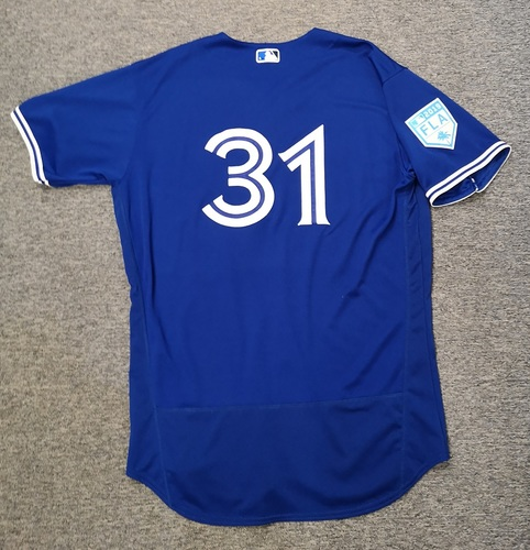 Photo of Authenticated Game Used 2019 Spring Training Jersey - #31 Joe Biagini (Mar 25: 0.2 IP, 1 Hit, 0 ER, 1 K). Size 50
