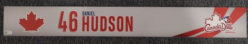 Photo of Authenticated Game Used Canada Day Locker Tag - #46 Daniel Hudson (July 1, 19)