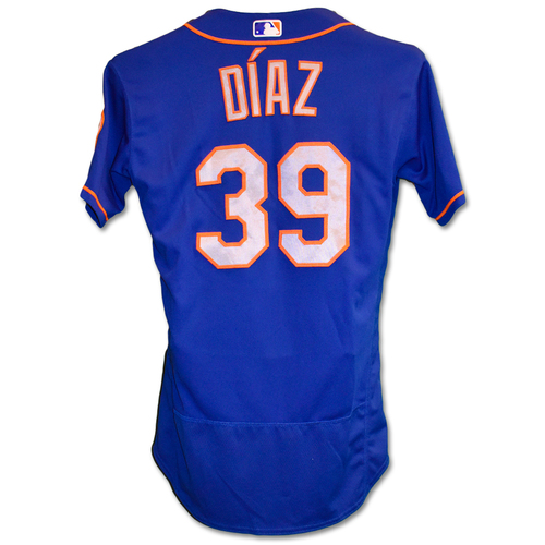 Photo of Edwin Diaz #39 - Team Issued Blue Alt. Road Jersey