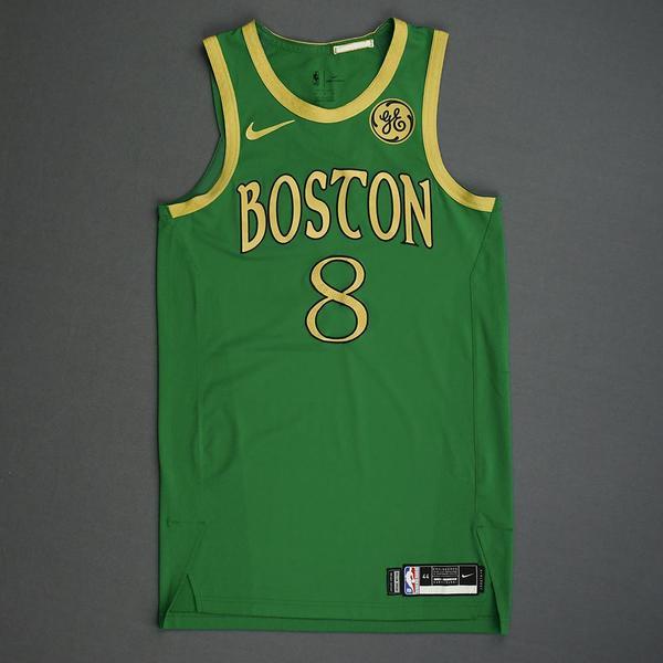 Image of Kemba Walker - Boston Celtics - Christmas Day' 19 - Game-Worn City Edition Jersey - Scored 22 Points