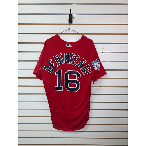 Photo of Andrew Benintendi Team Issued 2019 Spring Training Jersey