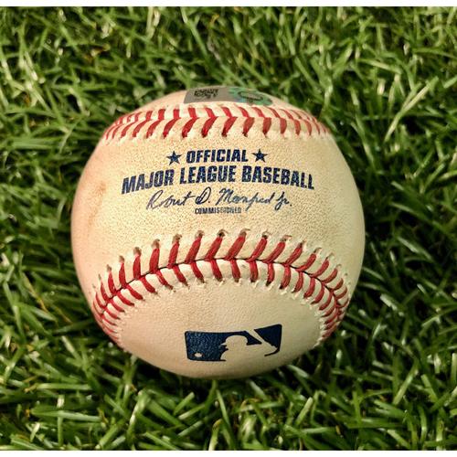 Photo of Game Used Baseball: Jose Martinez 2RBI single off Touki Toussaint - July 27, 2020 v ATL