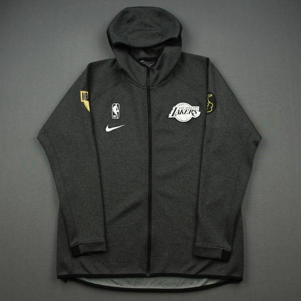 Image of Dwight Howard - Los Angeles Lakers - 2020 NBA Finals Games 1 & 2 - Game-Worn Hooded Warmup Jacket