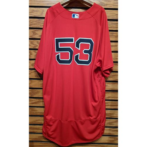 Photo of Coach Craig Bjornson #53 Red Home Alternate Team Issued Jersey