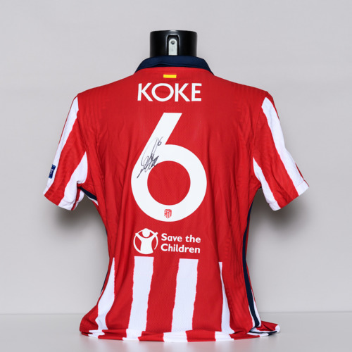 Photo of 20/21 Club Atletico de Madrid Jersey - signed by Koke