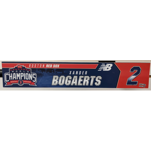 Photo of Xander Bogaerts #2 Team Issued Locker Tag