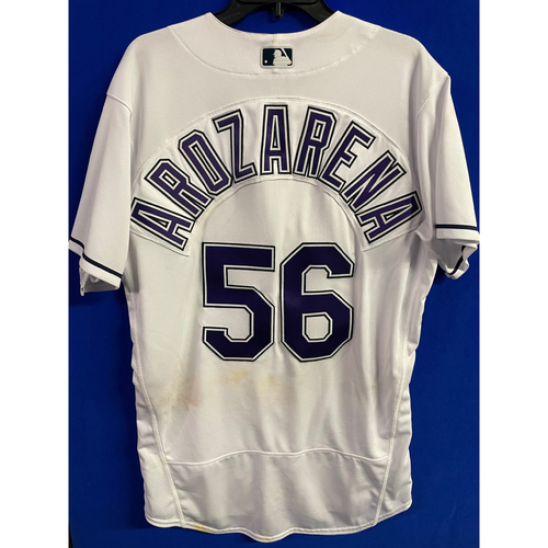 Photo of Game Used Devil Rays Jersey: Randy Arozarena - May 29, 2021 v PHI