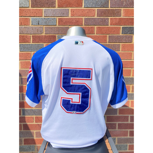 Photo of Freddie Freeman MLB Authenticated, Autographed (Team-Issued or Game-Used) 1974 Style Jersey