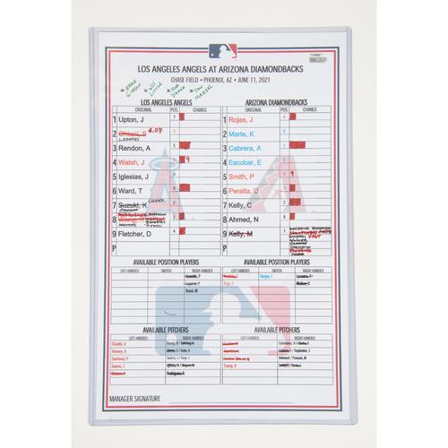 Photo of 6/11/21 @ AZ Lineup Card (Ohtani Pitching & Hitting)