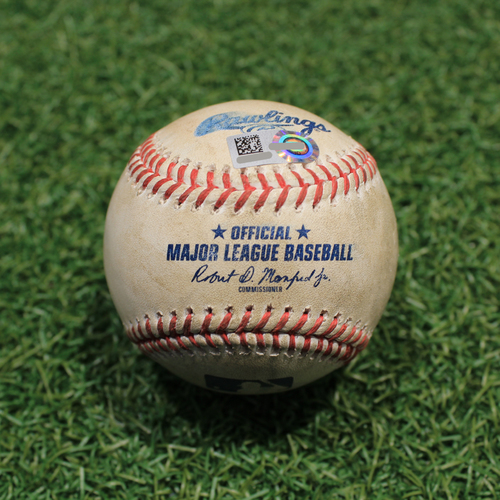 Photo of Game-Used Baseball: David Dahl 273rd Career Hit (TEX@KC 4/3/21)