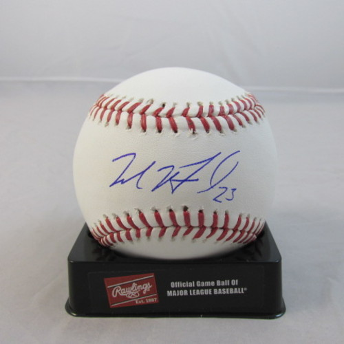 Photo of Michael Brantley Autographed Baseball
