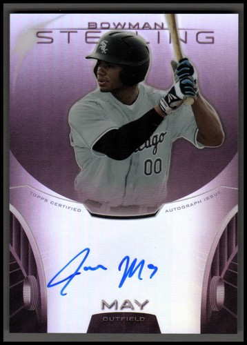 Photo of 2013 Bowman Sterling Prospect Autographs Ruby Refractors #JMA Jacob May