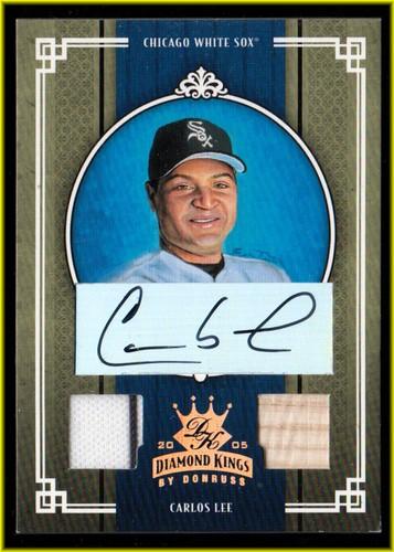 Photo of 2005 Diamond Kings Signature Materials Bronze #61 Carlos Lee Bat-Jsy/100