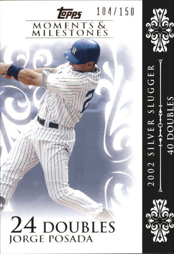Photo of 2008 Topps Moments and Milestones #65-24 Jorge Posada