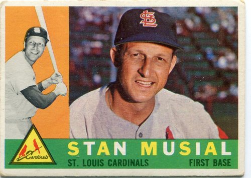 Photo of 1960 Topps #250 Stan Musial Hall of Famer