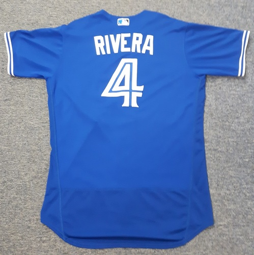 Authenticated Game Used Jersey - #4 Luis Rivera (July 29, 2017). Size 46.