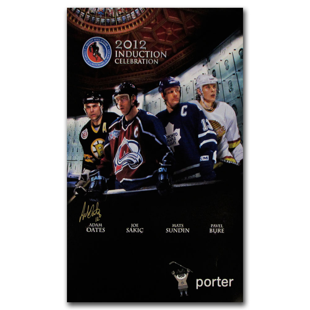 Adam Oates Autographed 2012 Hockey Hall of Fame Induction Poster