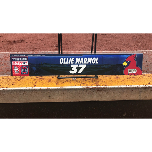 Photo of Cardinals Authentics: Ollie Marmol Team-Issued Spring Training Locker Tag