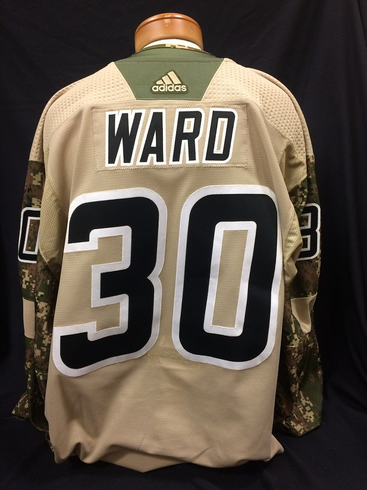 Cam Ward #30 Autographed Military Appreciation Jersey