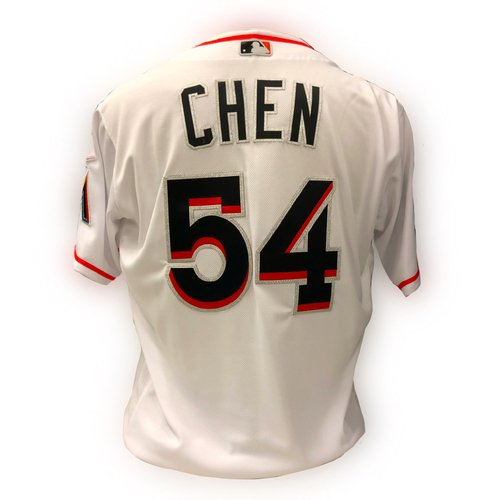 Photo of Game-Used Jersey: Wei-Yin Chen - Size 46 - 5/15/18