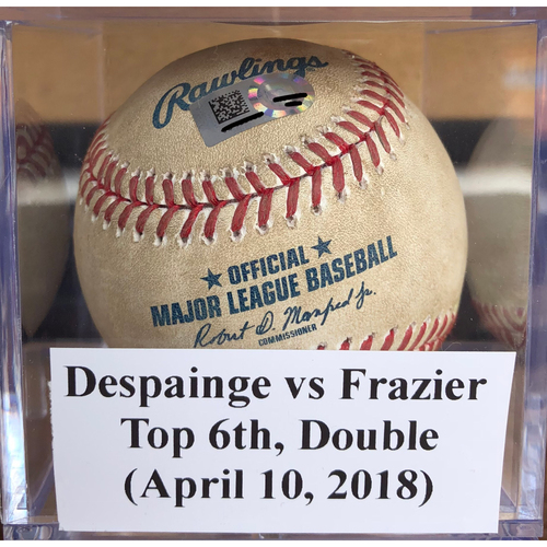 Photo of Game-Used Baseball: Odrisamer Despaigne vs Todd Frazier - Double (April 10, 2018)