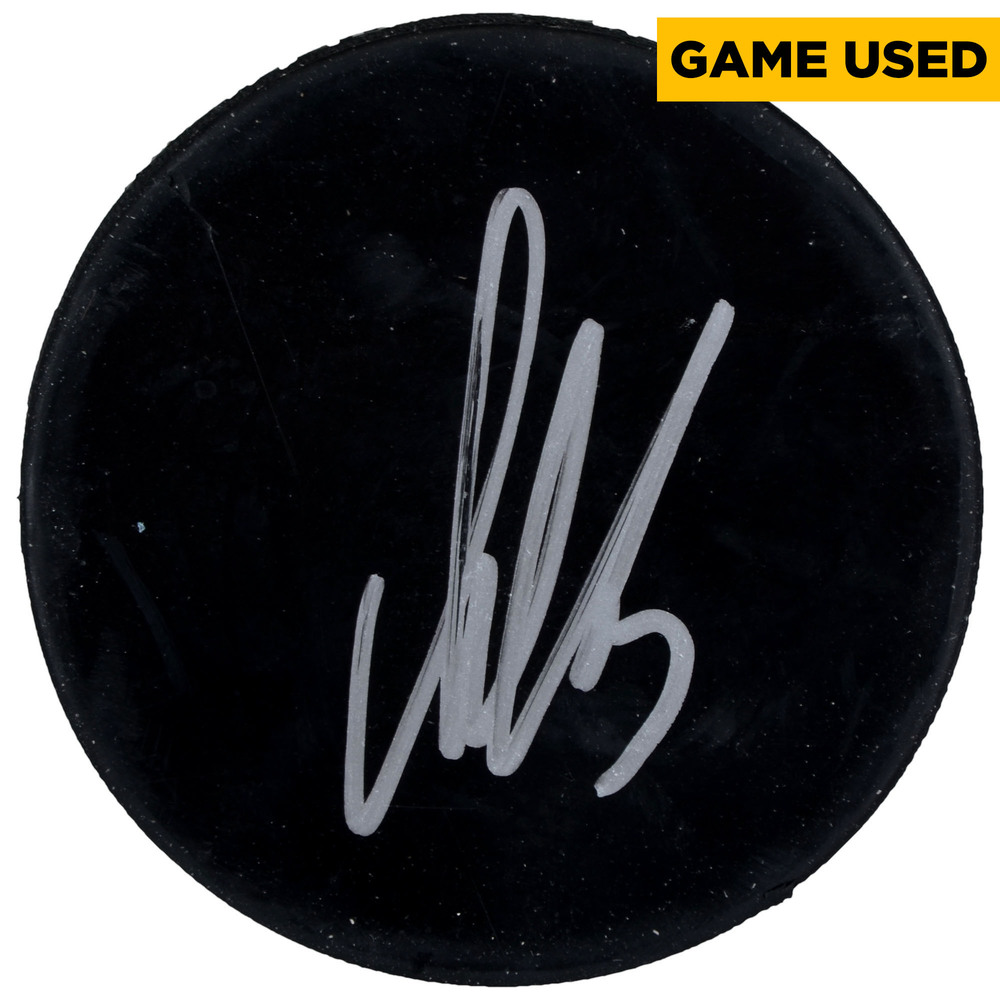 Alex Ovechkin Washington Capitals Autographed 2018 Stanley Cup Final  Practice Puck - Used During the May 27 8ce6f80809b