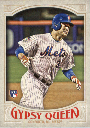 Photo of 2016 Topps Gypsy Queen #61A Michael Conforto RC/Running