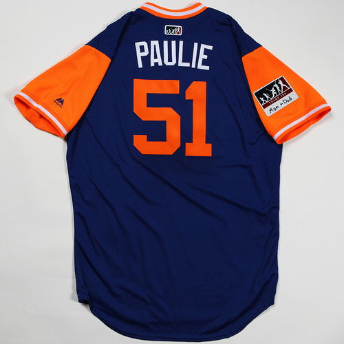 "Photo of Paul ""Paulie"" Sewald New York Mets Game-Used Jersey 2018 Players' Weekend Jersey"