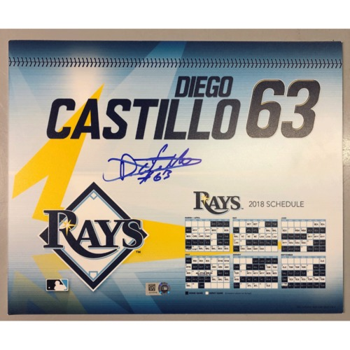 Photo of Game-Used Autographed Locker Tag: Diego Castillo - First MLBSeason (autograph not authenticated)