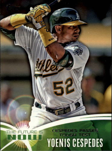 Photo of 2014 Topps The Future is Now #FN14 Yoenis Cespedes