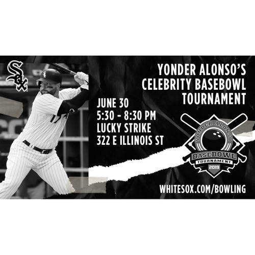 Entry to Yonder Alonso Annual Celebrity BaseBOWL Tournament (One bowler and one spectator)