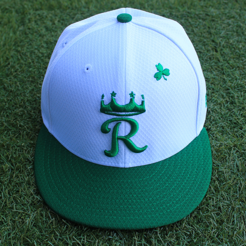 Photo of Team-Issued Saint Patrick's Day Cap: Glenn Sparkman (Size 7 1/8 - SEA @ KC - 3/17/19)